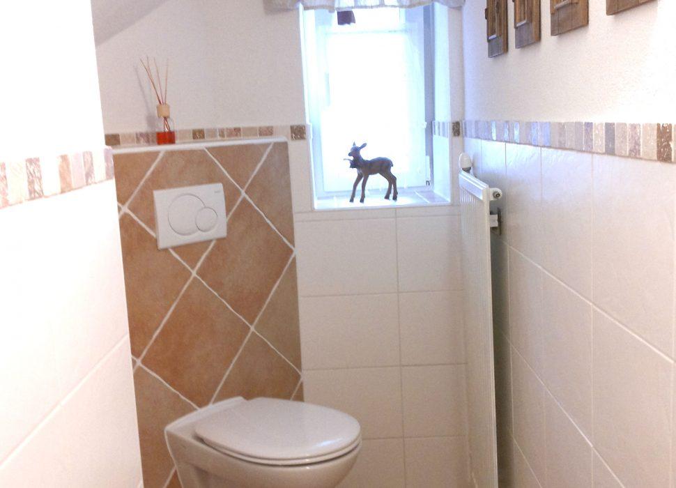 Image: Ganz neu die Toilette im 2. Stock.